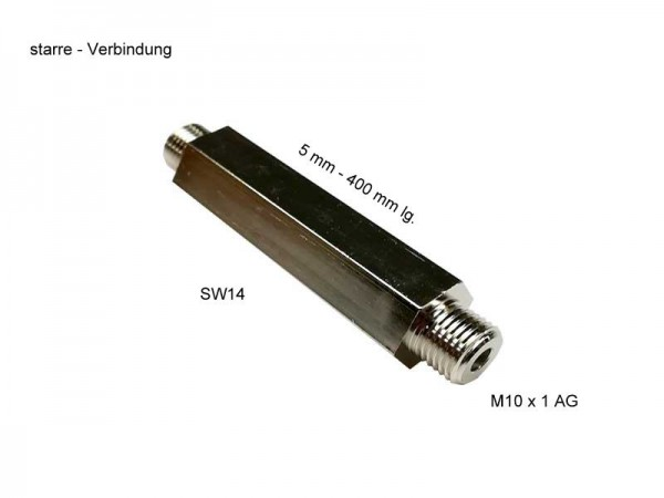 starre Verbindung SW 14, 50 mm lang, M 10 x 1 AG